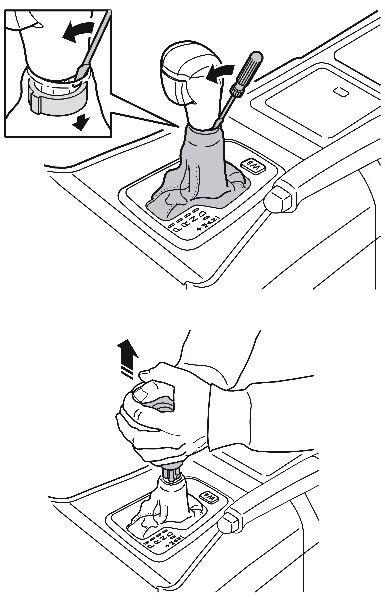 remove auto gear knob geartronic