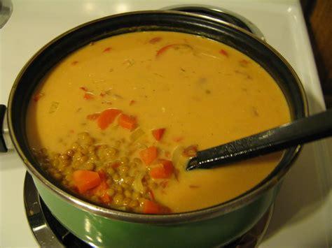 cuisine indienne recette soupe aux lentilles rouges à l 39 indienne recettes du québec