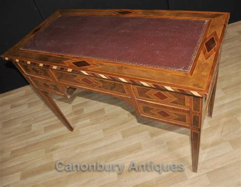 table bureau regency knee desk marquetry inlay writing table bureau