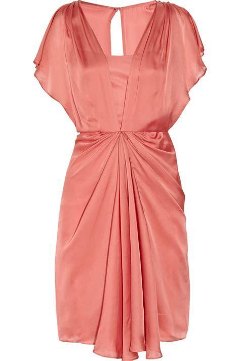 Lyst   Temperley London Venus Draped Silk Dress in Pink