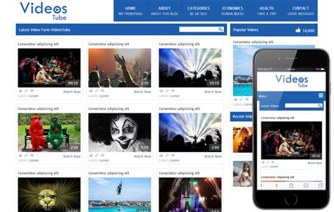 video template foto mad free video sharing mobile website template
