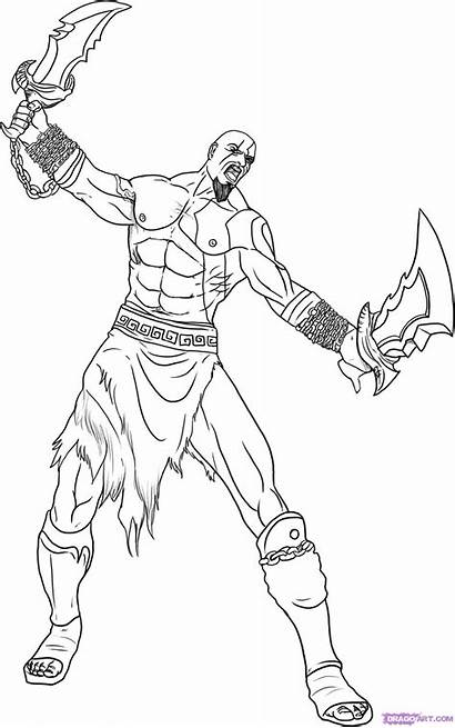 God War Kratos Coloring Desenhos Colorir Dibujos