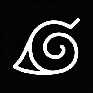 T-shirt Naruto - ナルト - symbol Konoha white/black