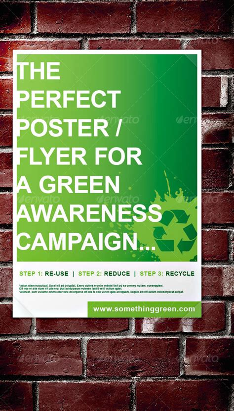 green awareness campaign poster flyer  stehan
