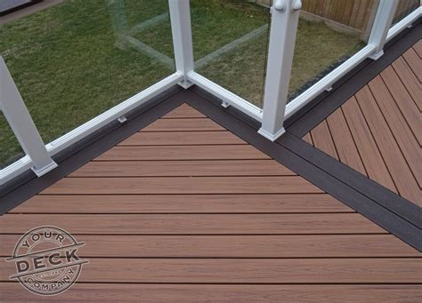 Kon Tiki Wood Deck Tiles by A Border Inlay Will Help Separate Areas Of Your Deck We