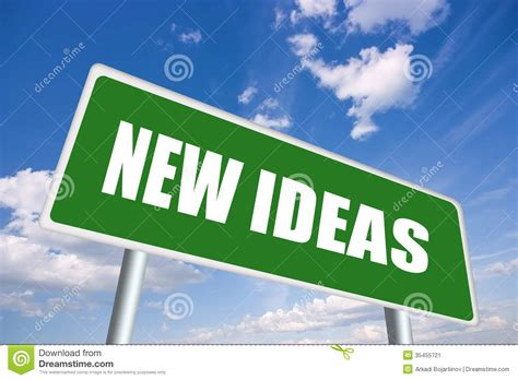 New Ideas Ahead  Road Construction Sign Royaltyfree