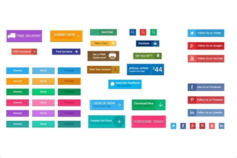 Html Button Templates by 28 Button Designs Templates Free Premium