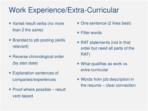 Chronological Resume In A Sentence by Chronological Order Resume
