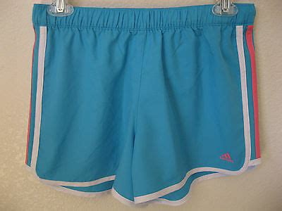 adidas girls shorts xl running light blue athletic gym