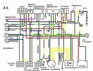 Imagen Diagrama Electrico De Una Cuatrimoto China A6