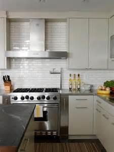 Modern Kitchen Backsplash Cameron Macneil Modern White Kitchen Design With Soft Gray Modern Cabinets White Subway