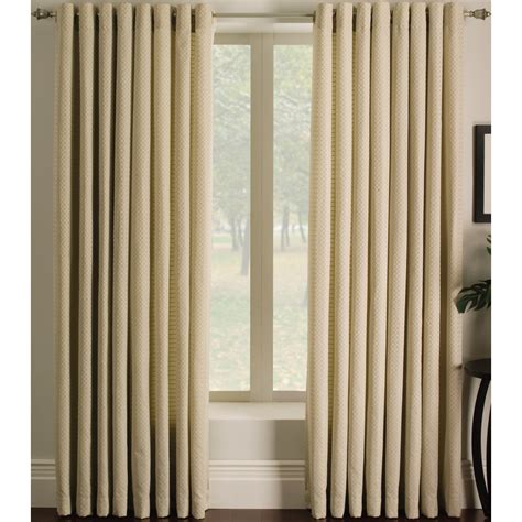 light filtering privacy curtains shop allen roth sullivan 84 in ivory polyester grommet