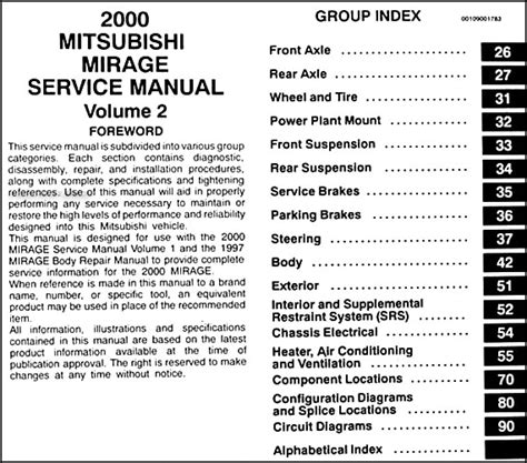 motor repair manual 1990 mitsubishi mirage auto manual 2000 mitsubishi mirage repair shop manual set original