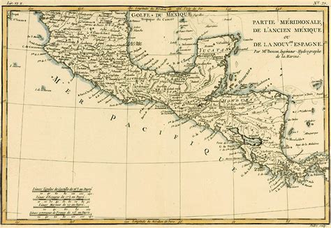 antique map  southern mexico drawing  guillaume raynal