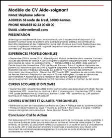 Offre D Emploi Auxiliaire De Vie Maison De Retraite by Modele De Cv Modele De Cv Aide Soignant Moncvparfait