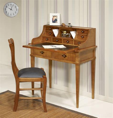 bonheur du jour en merisier de style directoire surface d 233 criture en moleskine meuble