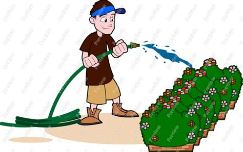 Watering Plants Clipart