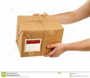 Handing Over The Package Stock Photo  Image Of Carrying