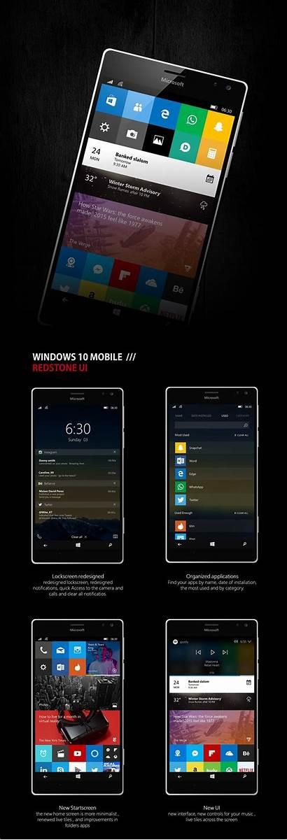 Windows Mobile Ui Redstone Concept Reimagined