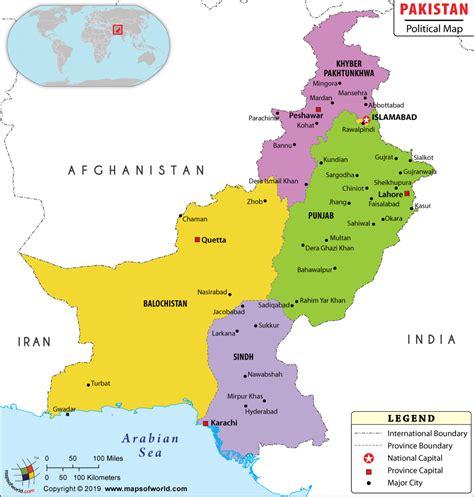 political map  pakistan pakistan provinces map