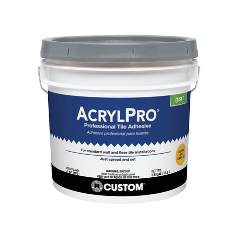 custom building products acrylpro 3 1 2 gal ceramic tile