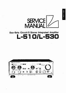 Luxman L230 Service Manual Free Download  Schematics  Eeprom  Repair Info For Electronics