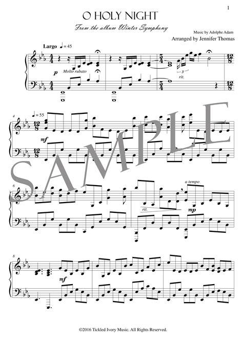 Dwight arranged by sally deford. O Holy Night - (PDF Sheet Music) — Jennifer Thomas Music