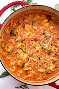 One Pot Creamy Tomato Tortellini Soup Gal on a Mission