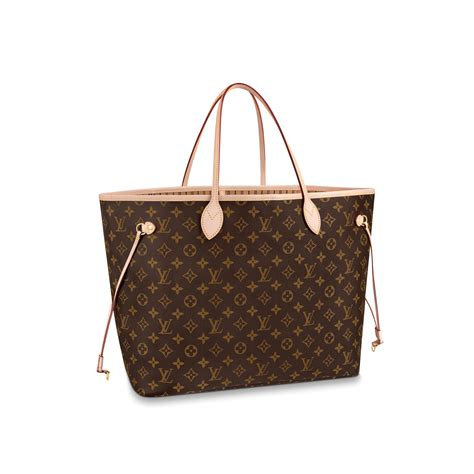 neverfull gm luxury louis vuitton monogram canvas handbag
