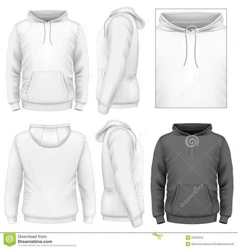 mens hoodie design template stock vector illustration