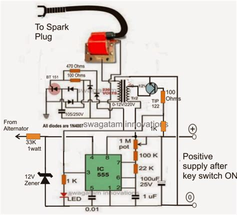 electronic 12v dc capacitive discharge ignition cdi