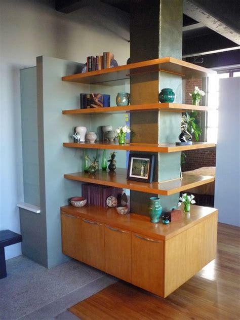 built  wrap  bookcase modern hall los