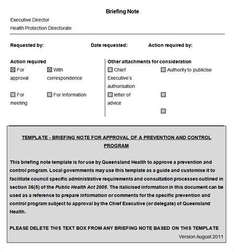brief template microsoft word 10 briefing note templates pdf doc free premium templates