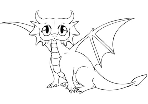 Cute Dragon coloring page Free Printable Coloring Pages