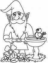 Gnome Coloring Gnomes Garden Coloriage Fantasy Savannah Ausdrucken Malvorlagen Mushroom Attic Zwerge Jardin Dans Son Gnome3 Gardening Adult Easy Gnomo sketch template