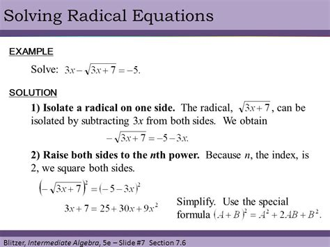 § 76 Radical Equations  Ppt Video Online Download