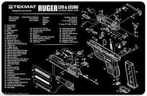 Tek Mat For Ruger Lc9  U0026 Lc380 Armorers Bench Mat Exploded View Schematic New