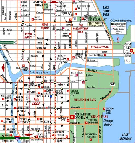 maps update 14882105 tourist map of chicago chicago