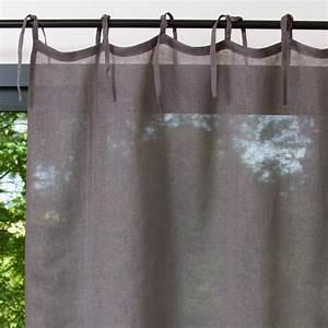 Rideau Lin Gris : rideau nouettes en lin gris 105 x 300 cm maisons du monde ~ Teatrodelosmanantiales.com Idées de Décoration