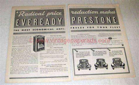 1933 Eveready Prestone Anti-freeze Ad