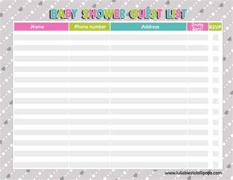 Free Printable Baby Shower Checklist