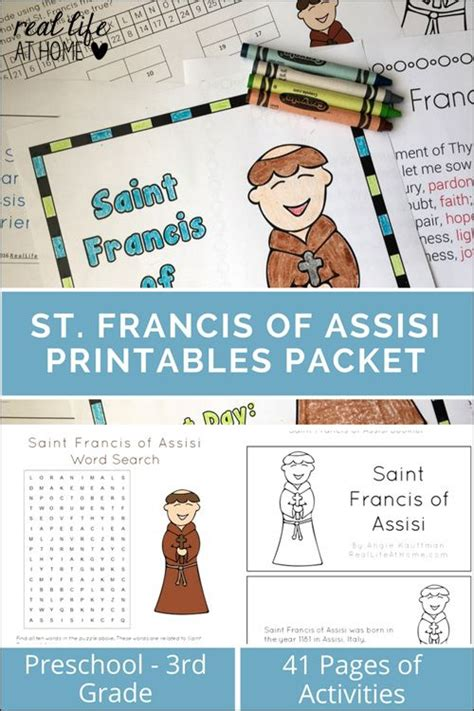 saint francis preschool st francis of assisi printables and worksheet packet 613