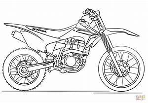 Honda Dirt Bike Coloring Page Free Printable Coloring Pages