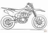 Coloring Dirt Bike Pages Honda Printable Drawing Paper Colorings Games Tutorials sketch template