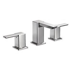 90 degree chrome two handle low arc bathroom faucet