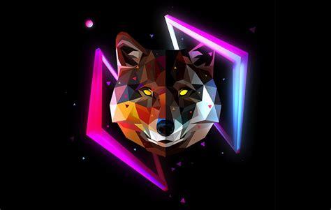 Geometric Wolf Phone Wallpaper by Justin M Maller Director Illustrator