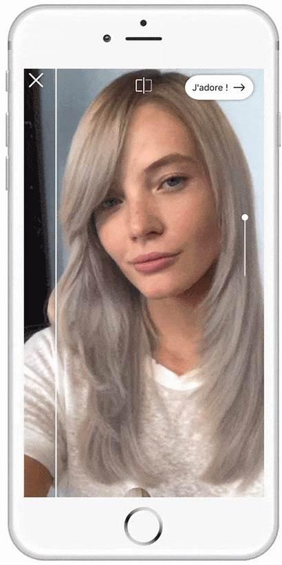 App Haarkleur Try Oreal Colour Virtual Cheveux