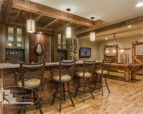 rustic country basement bonus room bar ideas pinterest