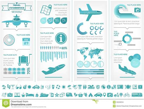 travel infographic template stock images image