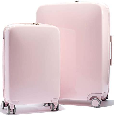 light pink suitcase light pink luggage mc luggage